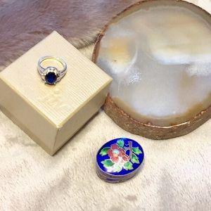 Jewelry - ✨SALE✨ NEW W/BOX Sapphire Gemstone Ring